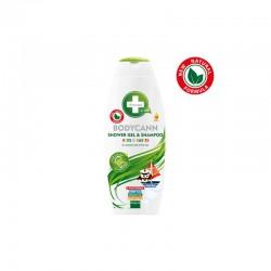 Bodycann żel pod prysznic+szampon dla dzieci z olejem konopnym 250ml