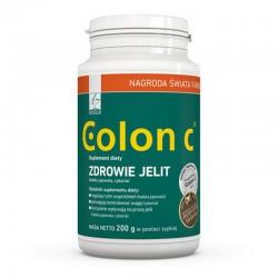 Colon C Reguluje pracę jelit Colon C Zapobiega zaparciom Colon C oczyszcza organizm Colon C naturalny błonnik
