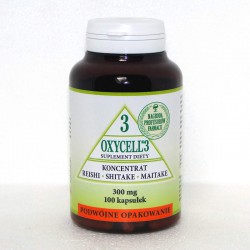 PROMOCJA! OXYCELL 3 – REISHI, SHITAKE, MAITAKE - SUPLEMENT DIETY OXYCELL 3