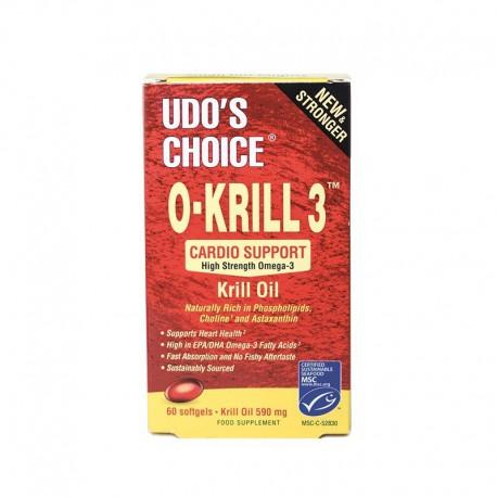 O-Krill 3 Olej z kryla Witamina A, E, Astaksantyna, Omega 3, 60 kapsułek New Stronger