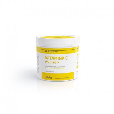 Witamina C MSE Matrix Naturalna witamina C lewoskrętna witamina C 180 tabletek