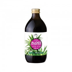 Aloes Sok z aloesu 100% ALV 600 z upraw ekologicznych wyciskany bezpośrednio z liści 500 ml