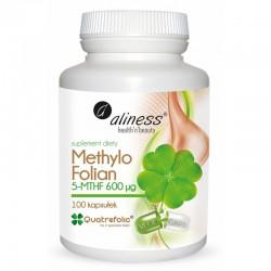 Methylo Folian 5-mthf 600 mcg 100 caps VEGE Methylofolian witamina b9 kwas foliowy metylowany