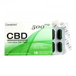 Canabidol CBD 500 mg żel bez otoczki Cannabis Sativa kannabinoidy terpeny tabletki żelowe gel tabs konopie siewne