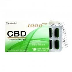 Canabidol CBD 1000 mg żel bez otoczki Cannabis Sativa kannabinoidy terpeny tabletki żelowe gel tabs konopie siewne
