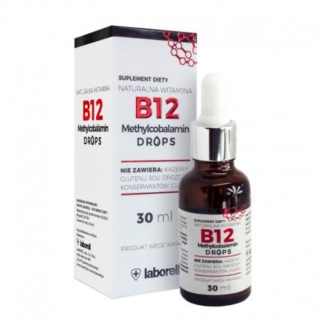 Witamina B12 drops 30 ml Metylokobalamina w kroplach witamina E Witamina B12 w płynie