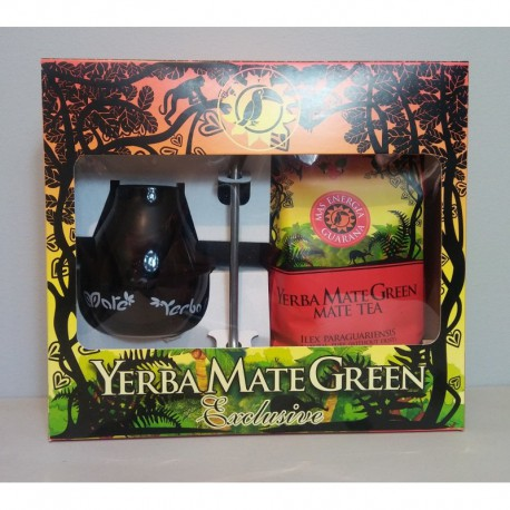 Zestaw Yerba Mate Green Mate MAS ENERGIA GUARANA 400g + bombilla + matero