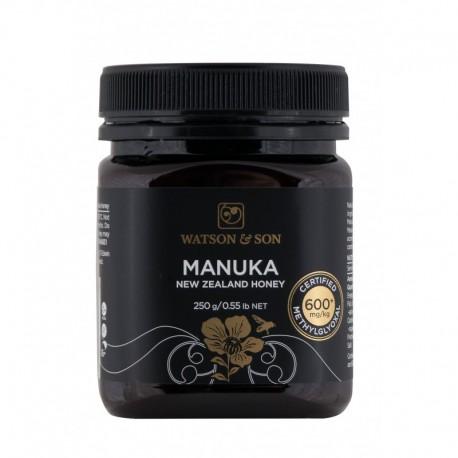 Miód Manuka 250g MGO 600+ Watson & Son Miód z krzewu Manuka