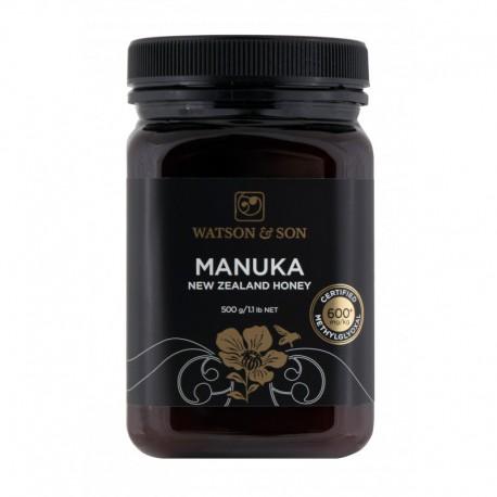 Miód Manuka 500g MGO 600+ Watson & Son Miód z krzewu Manuka