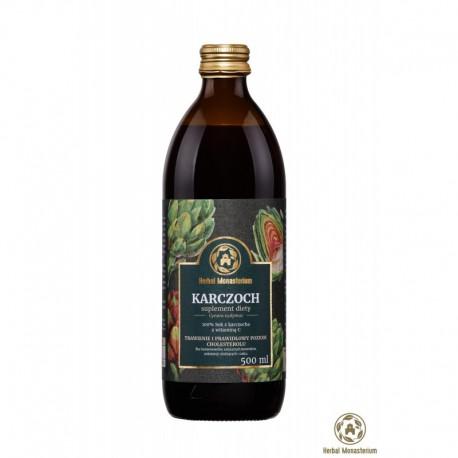 Naturalny sok z karczocha 500ml Herbal Monasterium