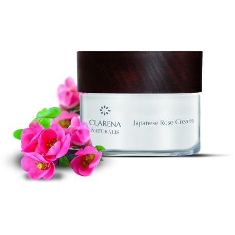 Japanese Rose Cream - 100% wegański, naturalny krem do twarzy z różą japońską dla cery dojrzałej i wrażliwej.