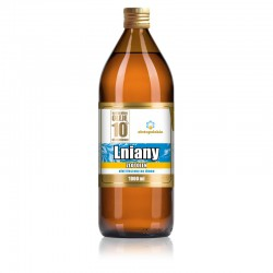 Olej Lniany ZŁOTOLEN Olej lniany Nieoczyszczony olej lniany tłoczony na zimno olej lniany 1000 ml