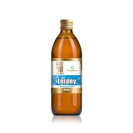 Olej Lniany 0,5l Olej lniany podstawa diety dr Budwig Olej lniany Nieoczyszczony olej lniany tłoczony na zimno olej lniany