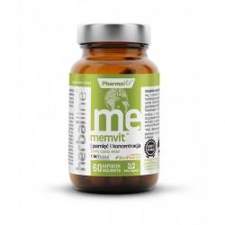 Memvit herballine 60 kaps. PharmoVit pamięć i koncentracja pieprz czarny BioPerine brahmi żeń-szeń koreański