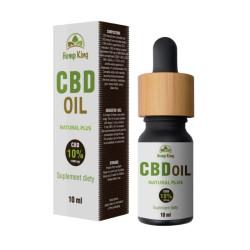 Olej CBD Natural Plus 10% (1000mg)  – 10ml Hemp King