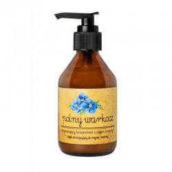 Koncentrat oczyszczający z olejem lnianym 150ml olejek emulgujący do mycia twarzy Polny Warkocz olej lniany olej rycynowy