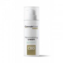Krem normalizujący do skóry tłustej i mieszanej 50ml 100mg CBD CannabiGold fitokannabinoid azeloglicyna