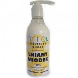 Odżywka do włosów Lniany Miodek 400g Mira ekstrakt z miodu lnu gardenii olej kokosowy