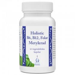 Holistic B6, B12, Folat Metylerad - B6, B12, kwas foliowy - metylowane 60 kaps.