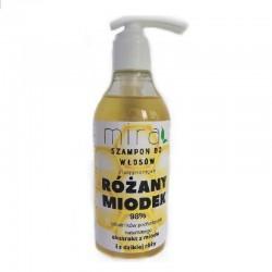 Szampon do włosów Różany Miodek 400 g Mira kosmetyki olej kokosowy ekstrakt z róży i z miodu