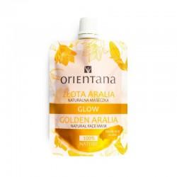 Maseczka do twarzy Złota Aralia 30ml Orientana naturalna maseczka golden aralia ekstrakt z aralii z wyspy Jeju kwas hialuronowy