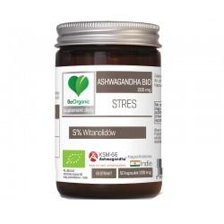 Ashwagandha bio 200mg 50 kaps. KSM-66 BeOrganic Medicaline witanolidy ksm-66 Withania somnifera