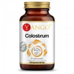 Colostrum 120 kaps 40% IgC Yango wołowe colostrum proteiny immunoglobuliny