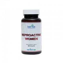 Reproactive Women 60 kaps. Invent Farm Ekstrakt z korzenia maca Lepidium meyenii korzeń dzięgla chińskiego Angelica Sinensis