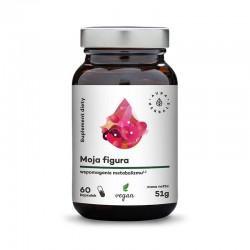 Moja Figura - Wspomaganie Metabolizmu 60 kaps. Aura Herbals Zielona herbata  morwa biała czarny bez Ostrokrzew paragwajski