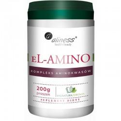 eL-Amino kompleks aminokwasów 200g  Aliness aminokwasy egzogenne L-prolina L-histydyna L-lizyna L-leucyna