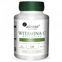 Witamina C optymalna 250mg synergia 4 form 200kaps. Aliness kwas L-askorbinowy askorbinian magnezu askorbinian wapnia