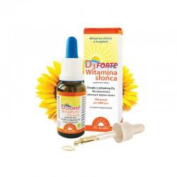 Witamina słońca D3 FORTE w kroplach 20 ml cholekalcyferol olej słonecznikowy tokoferol naturalna witamina d