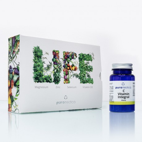 Pakiet Life Magnez 100ml + Cynk 100 ml  + Selen 100ml + Witamina D3 100ml Puromedica