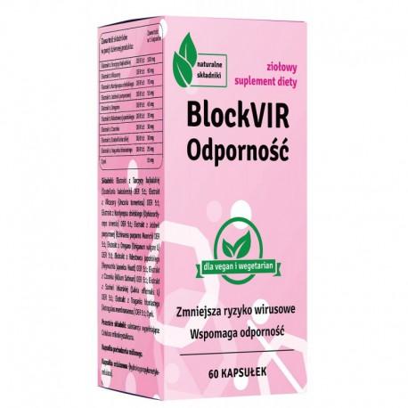 BlockVIR - Odporność tarczyca bajkalska Vilcacora kordyceps jeżówka oregano rdestowiec czosnek szałwia traganek wzmocnienie