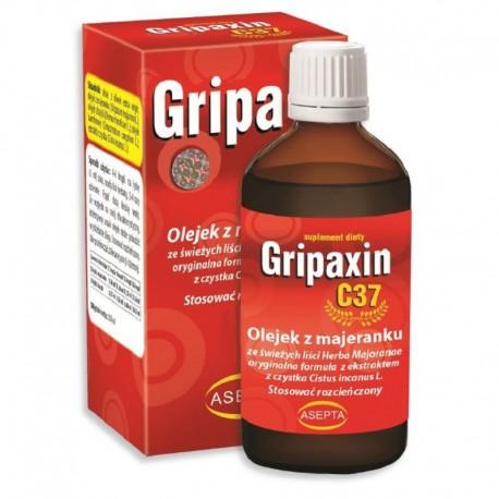 Gripaxin C37 30ml – naturalna formuła 3 olejków eterycznych olej z majeranku olejek z bazyli olejek kamforowy ekstrakt z czystka