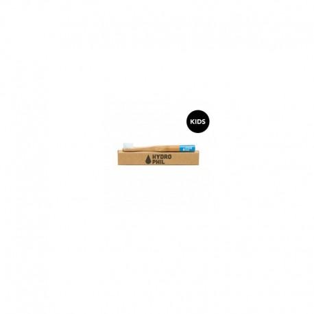 Naturalna, wegańska szczoteczka do zębów z biodegradowalnego bambusa, DLA DZIECI, Niebieska, Hydrophil