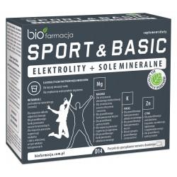 Sport & Basic 14 saszetek elektrolity i sole mineralne Bio Farmacja magnez potas cynk
