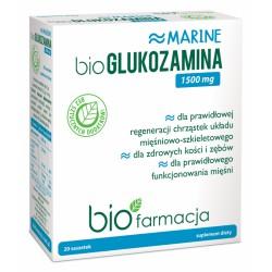 bioGlukozamina marine 1500mg 20 saszetek bioFarmacja glukozamina wapń siarczan glukozaminy acerola Malpighia glabra L.