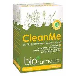 Clean Me 21 saszetek bio ekstrakty roślinne organiczne minerały bio Farmacja babka jajowata siemię lniane glukomannan wapń