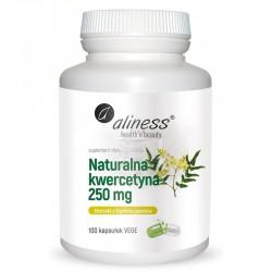 Kwercetyna naturalna 250 mg  100 kaps. Aliness kwercetyna z perełkowca japońskiego Sophora japonica