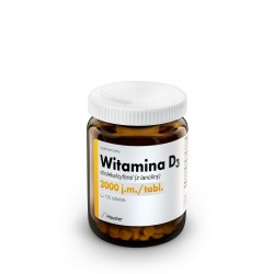 Witamina D3 2000 j.m 120 tabl. Hauster witamina D3 cholekalcyferol z lanoliny
