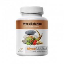MycoBalance 90 kaps. MycoMedica Reishi Cordyceps Shiitake Enoki Ren Shen Astragalus membranaceus Angelica sinensis Da Zao