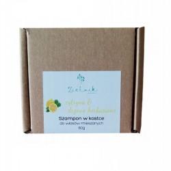 Szampon w kostce cytryna i drzewo herbaciane 60g Zielnik do włosów mieszanych