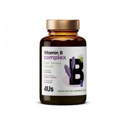 4Us Vitamin B complex 60 kaps. Health Labs kompleks witamin z grupy B Biotyna Foliany Niacyna Tiamina