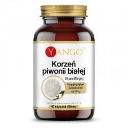 Korzeń piwonii białej 90 kaps. Yango  5% peonifloryny Paeonia lactiflora Piwonia biała Paeonia alba