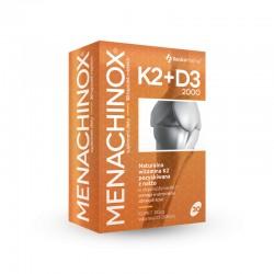 Menachinox K2+D3 2000 j.m 30 kaps. Xenico Pharma VitaMK7 Quali-D menachinon 7 cholekalcyferol Bacillus subtilis ssp natto