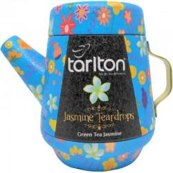 Herbata Zielona Jasmine Teardrops 100g herbata zielona z jaśminem w dzbanku aluminiowym Tarlton