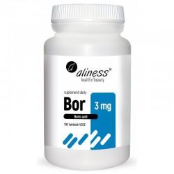Bor 3 mg kwas borowy 100 tabletek Aliness Boric acid