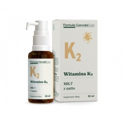 Witamina K2 z natto w oleju konopnym 30ml Formula CannabiGold Mk-7 menachinon-7