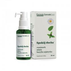 Spokój ducha - olej konopny z ekstraktami rumianku mięty bazylii 30ml Formula CannabiGold Cannabis sativa L.